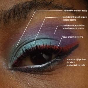 maquillage tuto bleu et violet