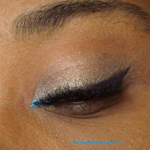 eyeliner crème makeup atelier, ombre à yeux crème pb cosmetics bleu électrique, palette bad girl sleek