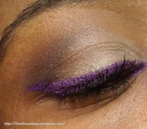 maquillage neutre avec des hot pots de coastal scents: gypsy night et Bermuda Sand. Eyeliner makeup atelier purple