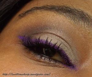 maquillage neutre (tons beige) sur peau noire