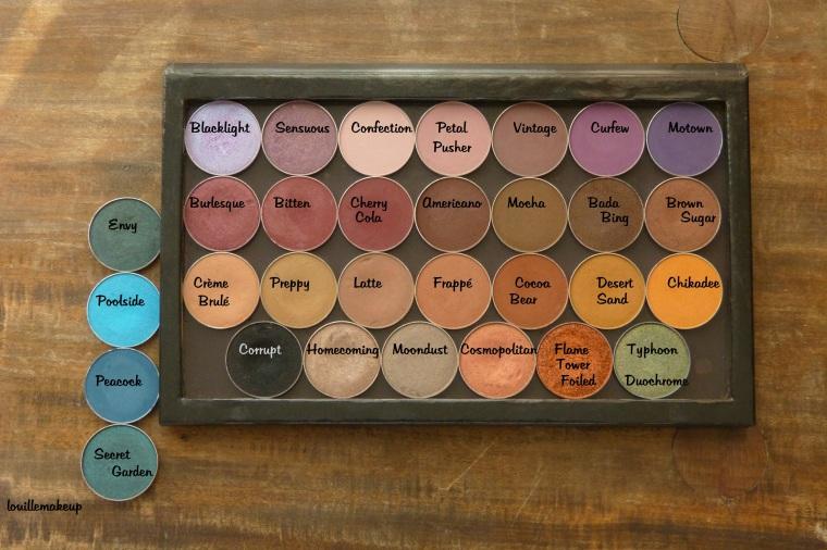 Swatch sur peau noire fard makeup geek, makeup geek eyeshadows